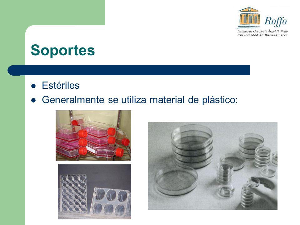 Soportes Estériles Generalmente se utiliza material de plástico:
