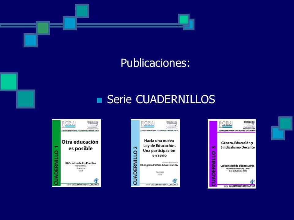 Publicaciones: Serie CUADERNILLOS Cuade rnillo 3
