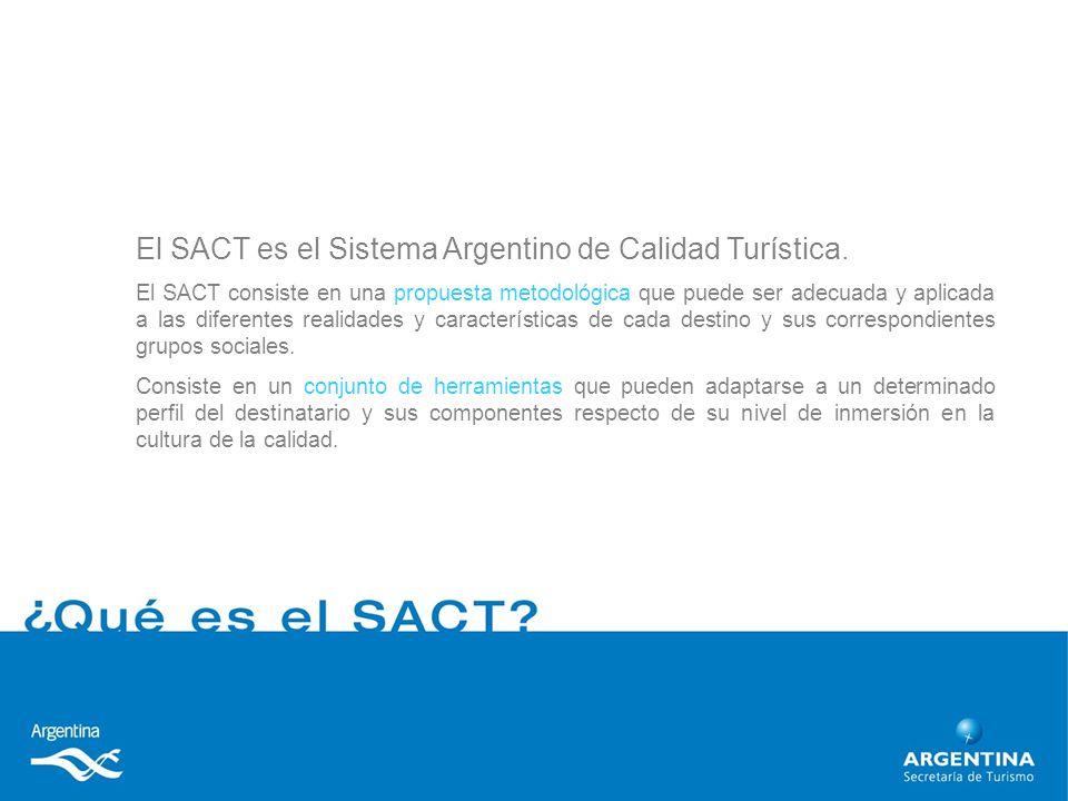 El SACT es el Sistema Argentino de Calidad Turística.
