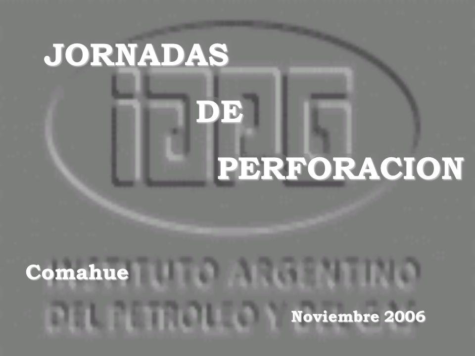 JORNADAS DE DE PERFORACION PERFORACIONJORNADAS DE DE PERFORACION PERFORACION Comahue Noviembre 2006