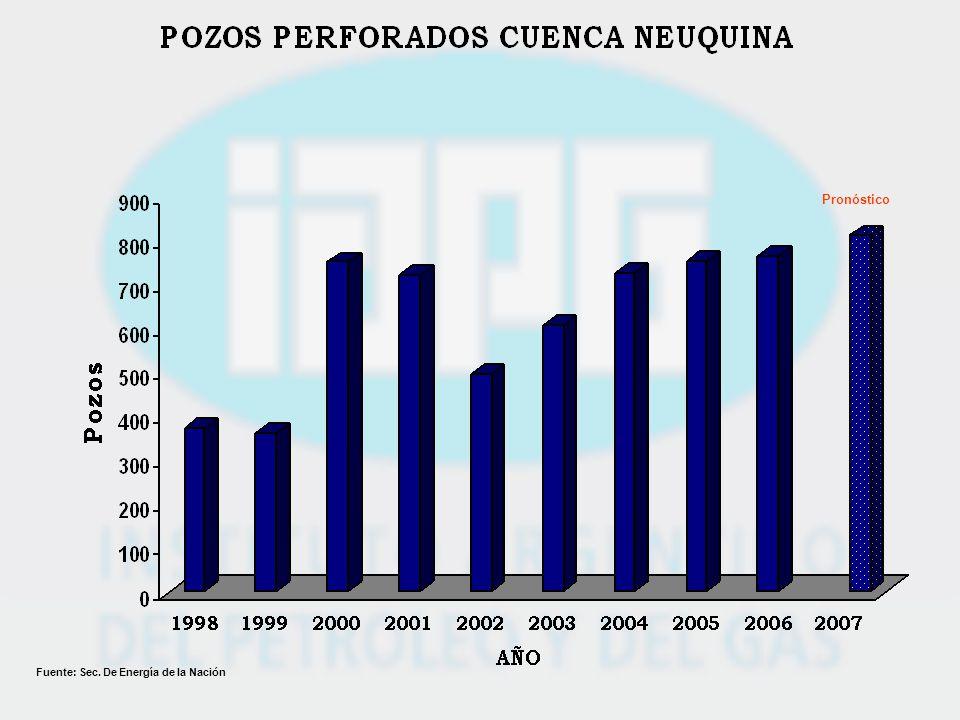 Pronóstico Fuente: Sec. De Energía de la Nación
