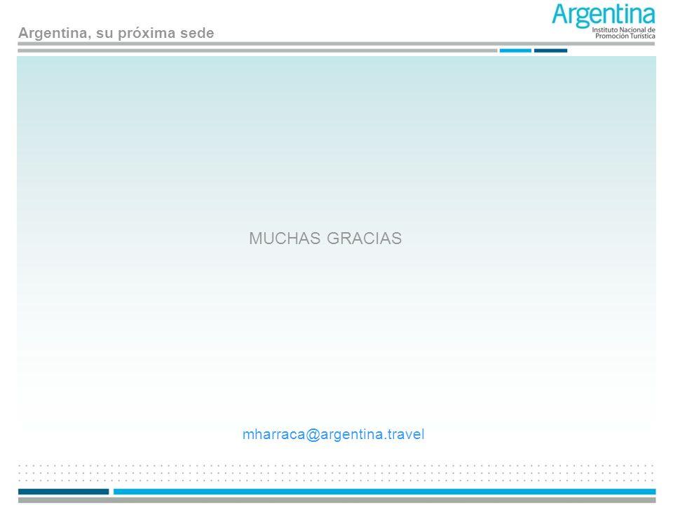 Argentina, su próxima sede MUCHAS GRACIAS mharraca@argentina.travel