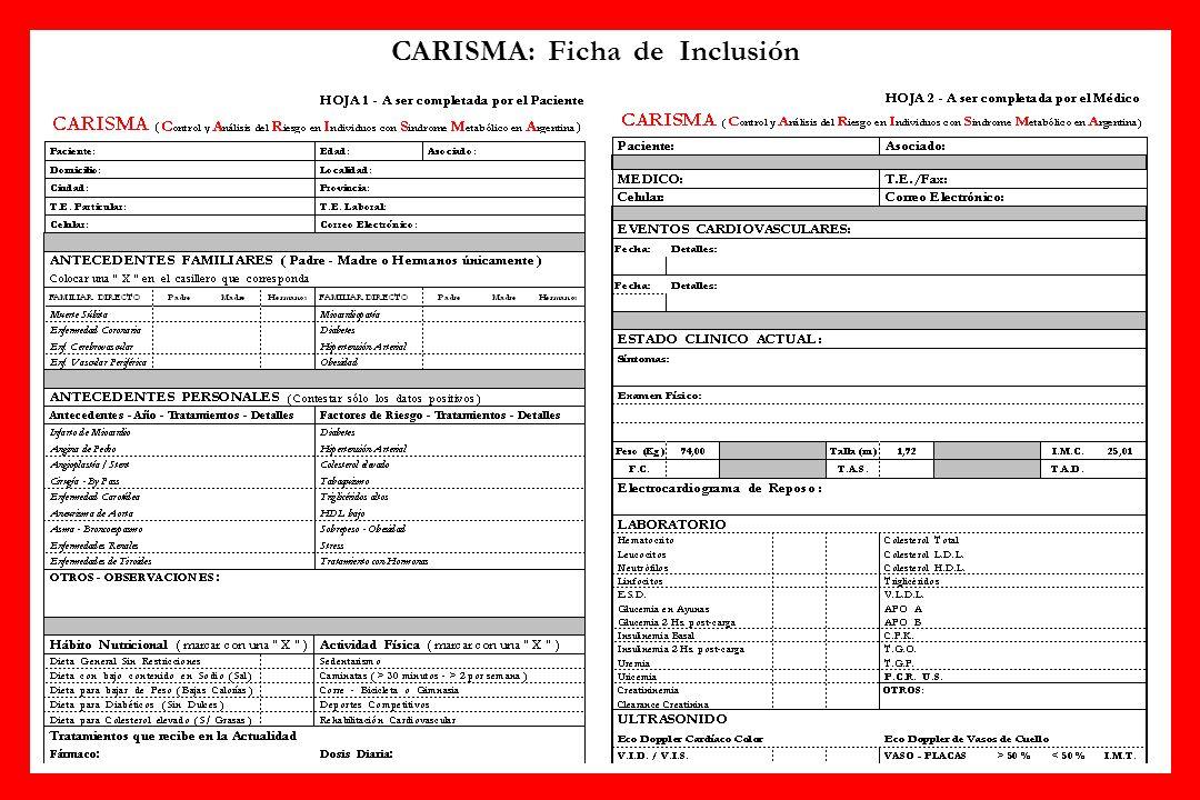 CARISMA: Ficha de Inclusión