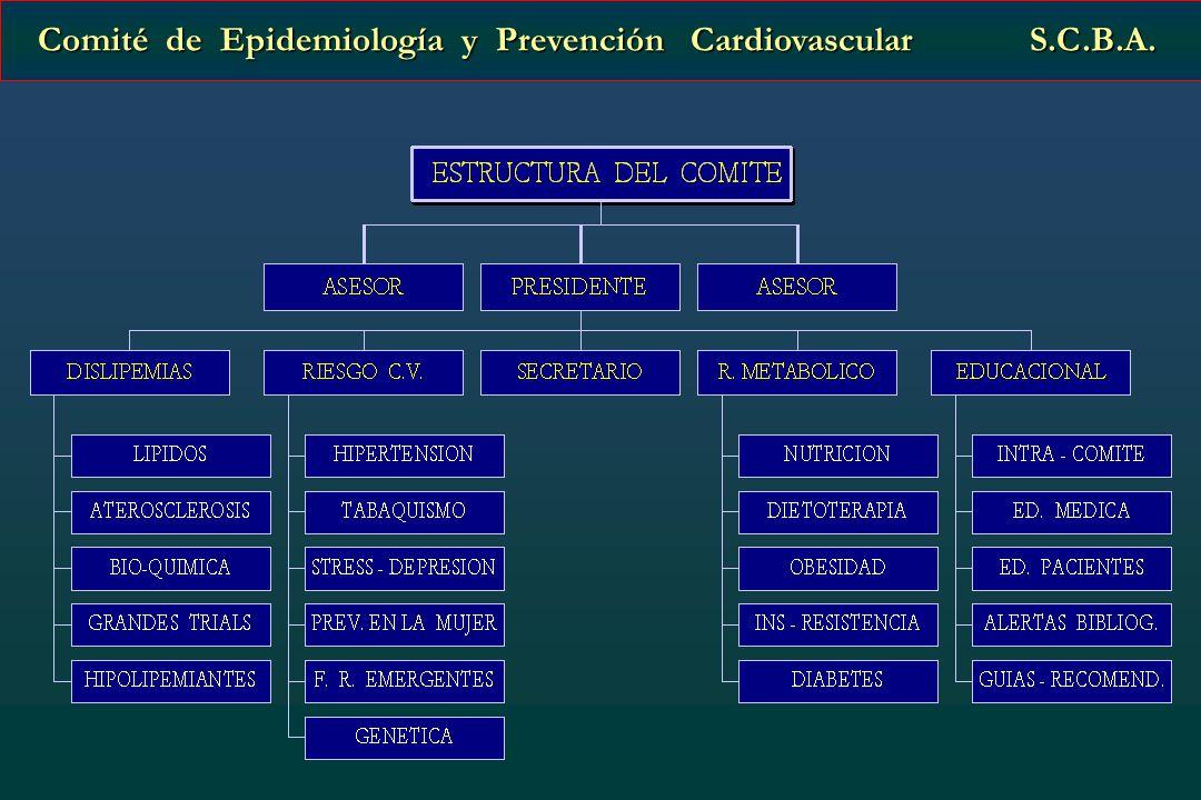 Comité de Epidemiología y Prevención Cardiovascular S.C.B.A. Comité de Epidemiología y Prevención Cardiovascular S.C.B.A.