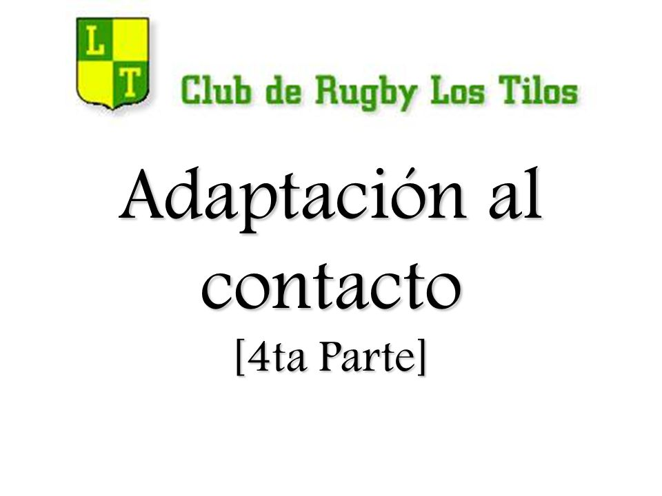 Tarjeta de Actividades GESTO TÉCNICO EN EL RUCK: 1 CLUB DE RUGBY LOS TILOS