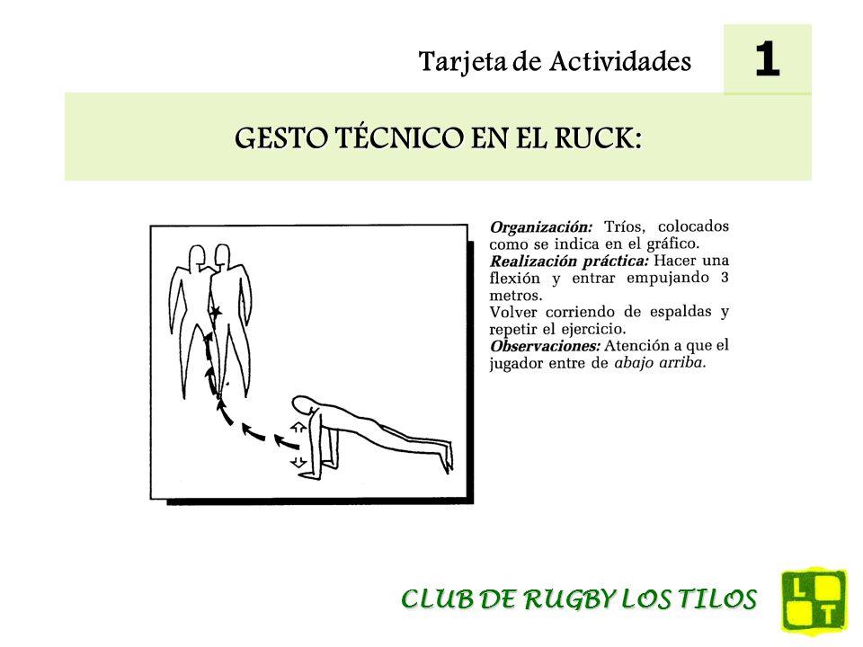 Tarjeta de Actividades MEJORA DEL PASE BAJO PRESIÓN Y DEL APOYO: 12 CLUB DE RUGBY LOS TILOS