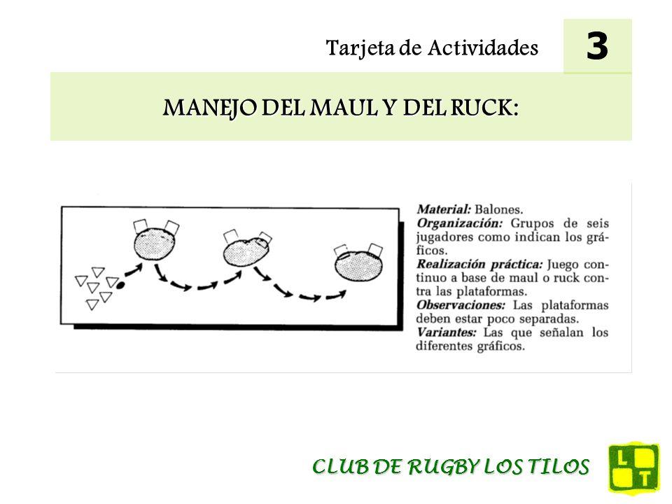 Tarjeta de Actividades COMPRESIÓN DE LA UTILIZACIÓN DEL MAUL: 4 CLUB DE RUGBY LOS TILOS