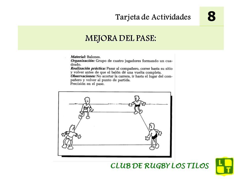 Tarjeta de Actividades MEJORA DEL PASE: 8 CLUB DE RUGBY LOS TILOS