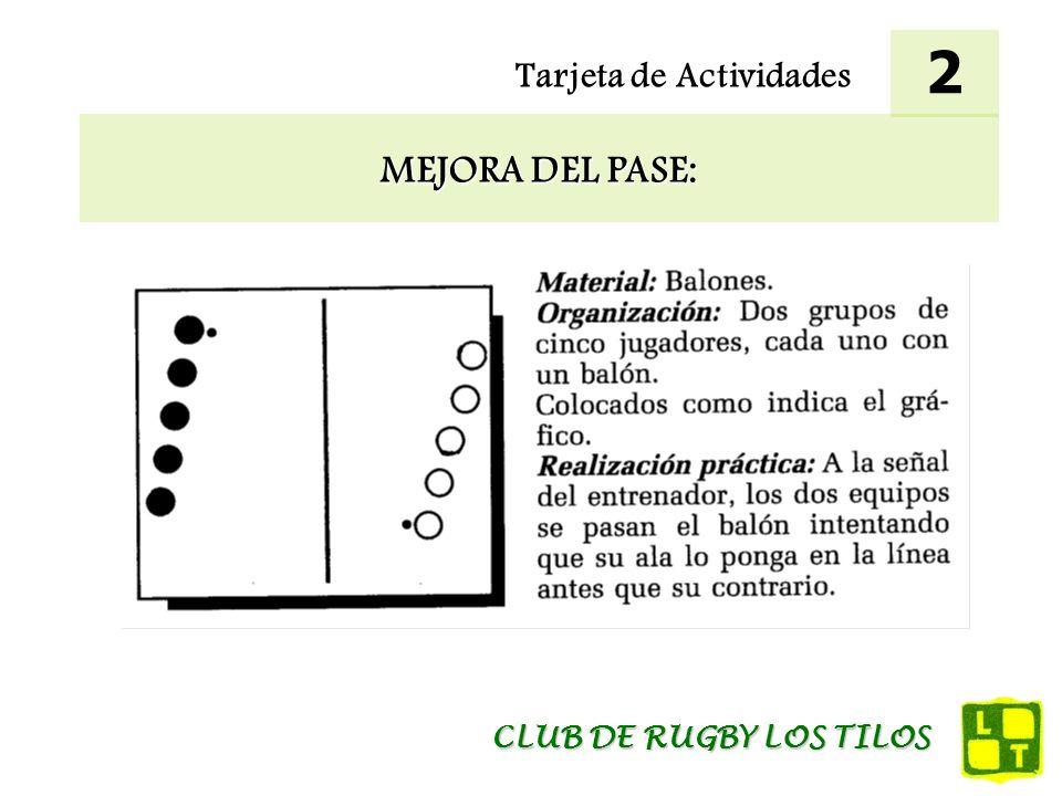 Tarjeta de Actividades MEJORA DEL PASE: 2 CLUB DE RUGBY LOS TILOS