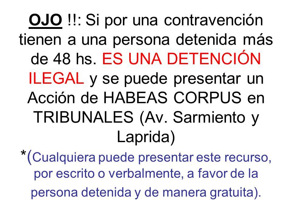 Si la persona detenida es menor de edad: Los padres de la persona menor de edad deberán acudir a la comisaría y mostrar la documentación que acredite la edad de ésta (acta de nacimiento y DNI de los padres).