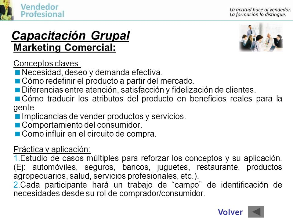 Capacitación Grupal Marketing Comercial: Conceptos claves: Necesidad, deseo y demanda efectiva.