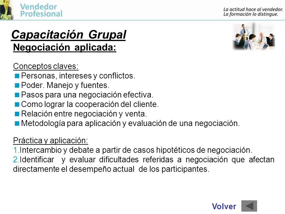 Capacitación Grupal Negociación aplicada: Conceptos claves: Personas, intereses y conflictos.
