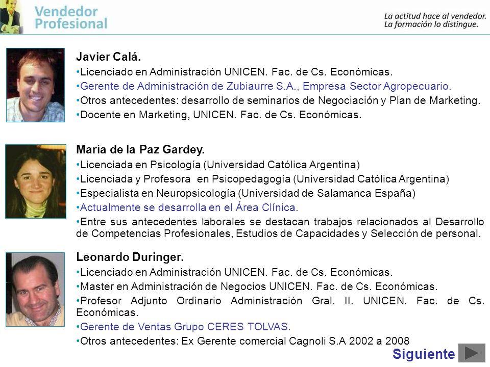 Javier Calá.Licenciado en Administración UNICEN. Fac.