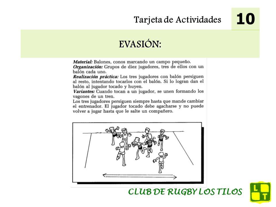 Tarjeta de Actividades EVASIÓN: 10 CLUB DE RUGBY LOS TILOS