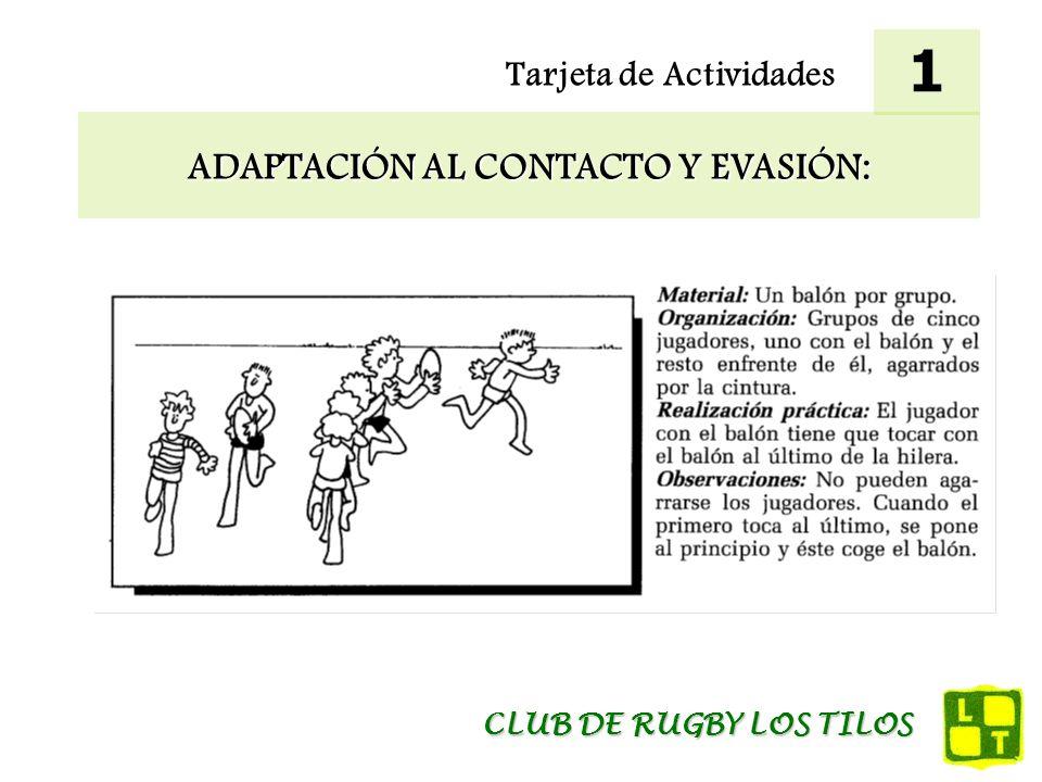 Tarjeta de Actividades EVASIÓN Y PLACAJE: 12 CLUB DE RUGBY LOS TILOS