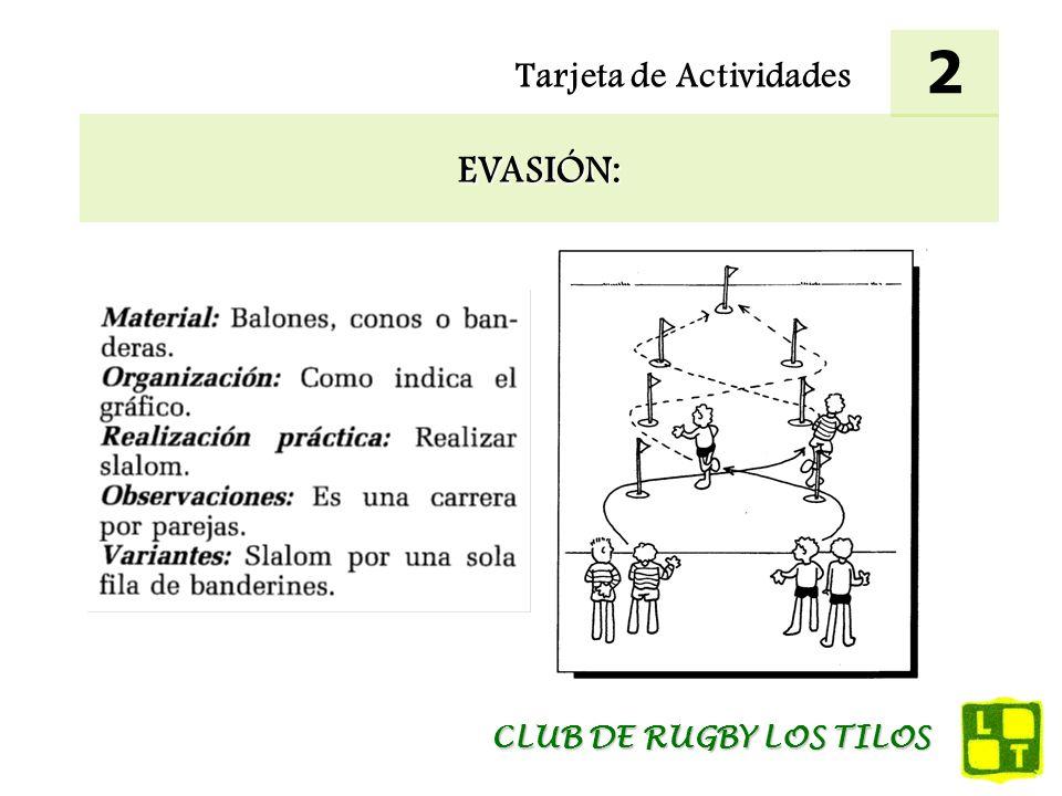 Tarjeta de Actividades EVASIÓN: 3 CLUB DE RUGBY LOS TILOS