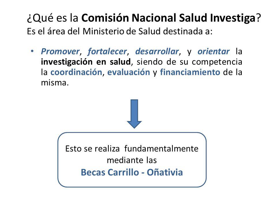 ¿Qué es la Comisión Nacional Salud Investiga.