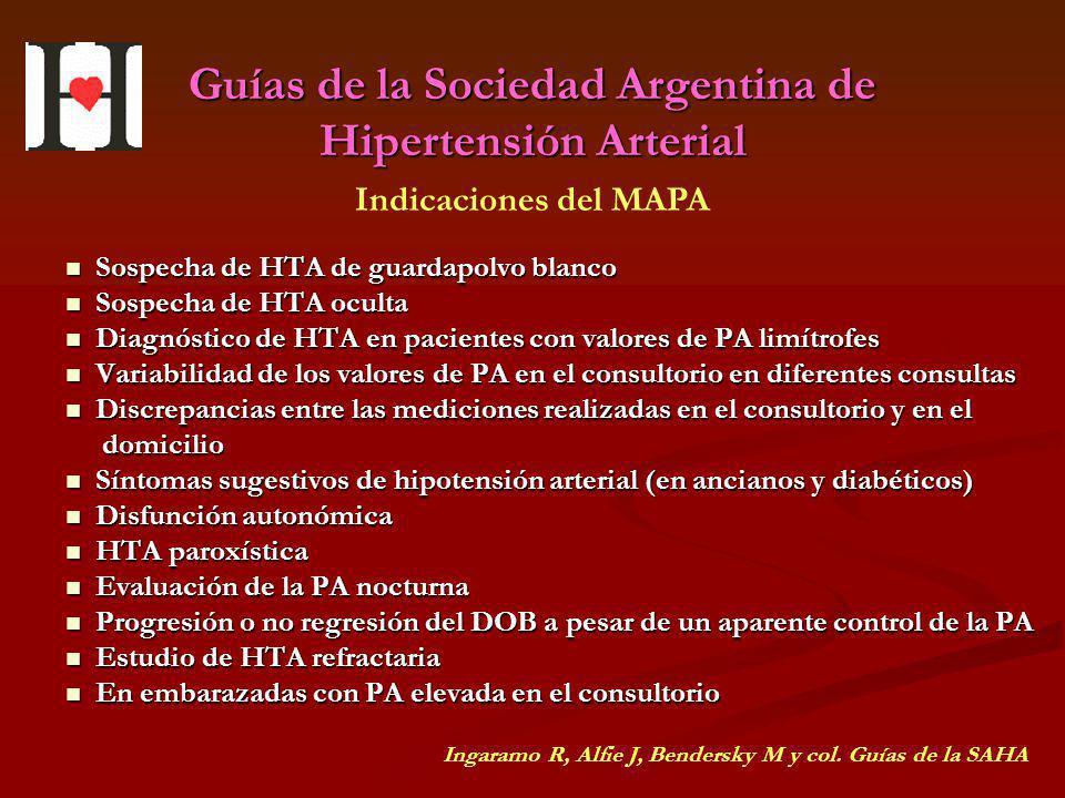 Guías de la Sociedad Argentina de Hipertensión Arterial Sospecha de HTA de guardapolvo blanco Sospecha de HTA de guardapolvo blanco Sospecha de HTA oc