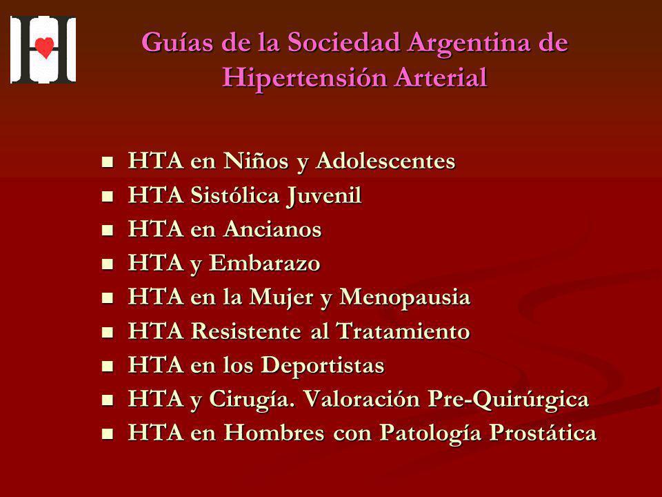 Guías de la Sociedad Argentina de Hipertensión Arterial HTA en Niños y Adolescentes HTA en Niños y Adolescentes HTA Sistólica Juvenil HTA Sistólica Ju