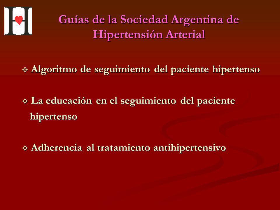 Guías de la Sociedad Argentina de Hipertensión Arterial Algoritmo de seguimiento del paciente hipertenso Algoritmo de seguimiento del paciente hiperte
