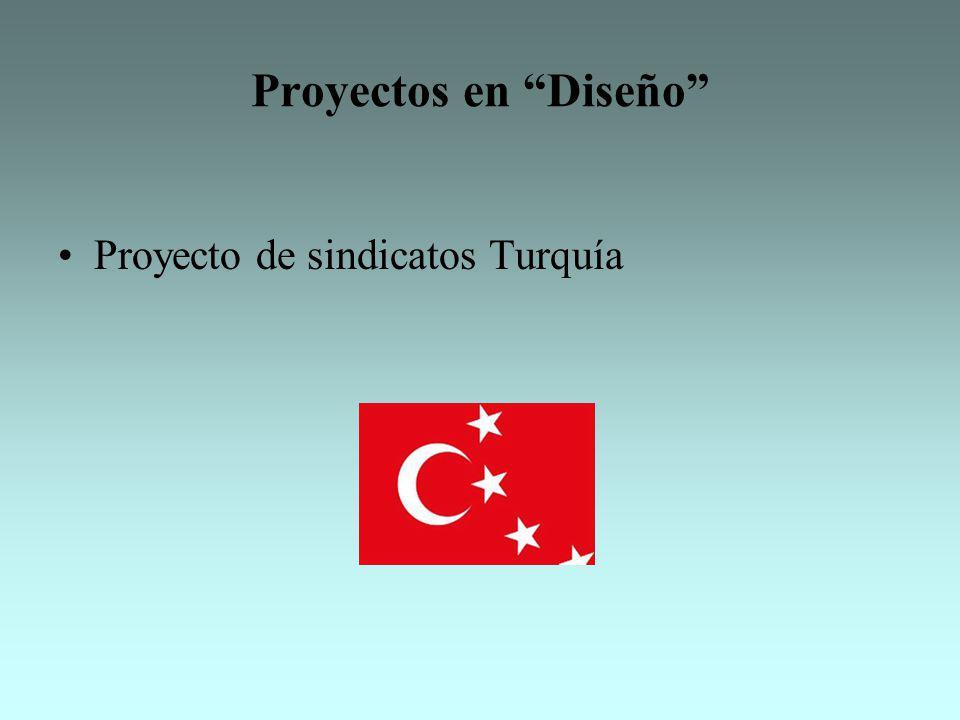 Proyectos en Diseño Proyecto de sindicatos Turquía