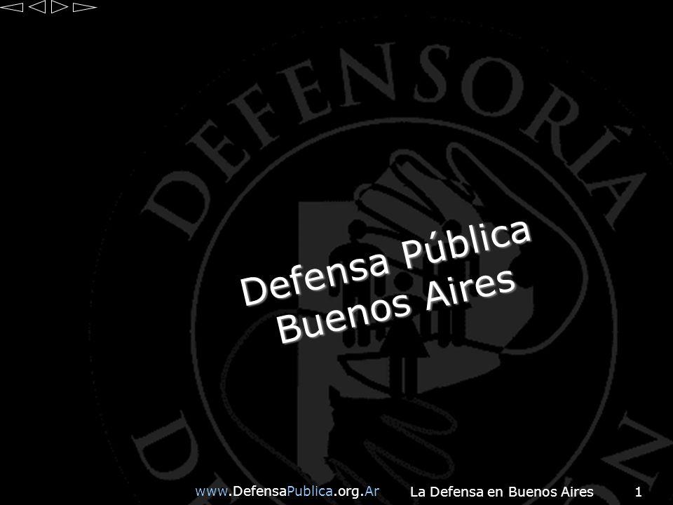 www.DefensaPublica.org.Ar La Defensa en Buenos Aires2 Normativa Institucional Plan Integral