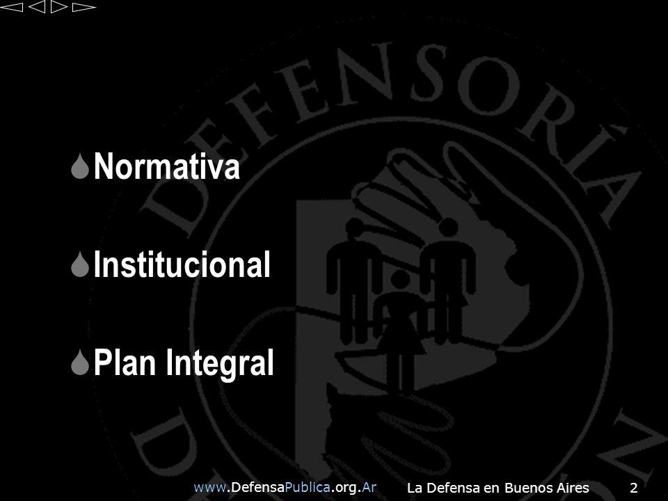 www.DefensaPublica.org.Ar La Defensa en Buenos Aires43 PROGRAMA DEFENSORIAS DESCENTRALIZADAS EN CASAS DE JUSTICIA