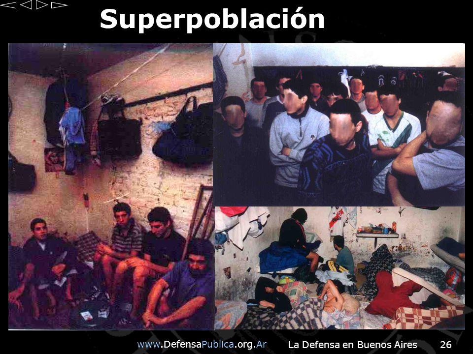 www.DefensaPublica.org.Ar La Defensa en Buenos Aires26 Superpoblación
