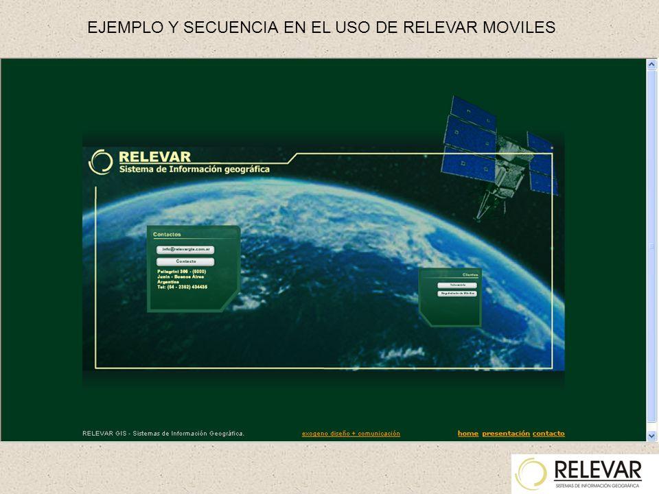 EJEMPLO Y SECUENCIA EN EL USO DE RELEVAR MOVILES