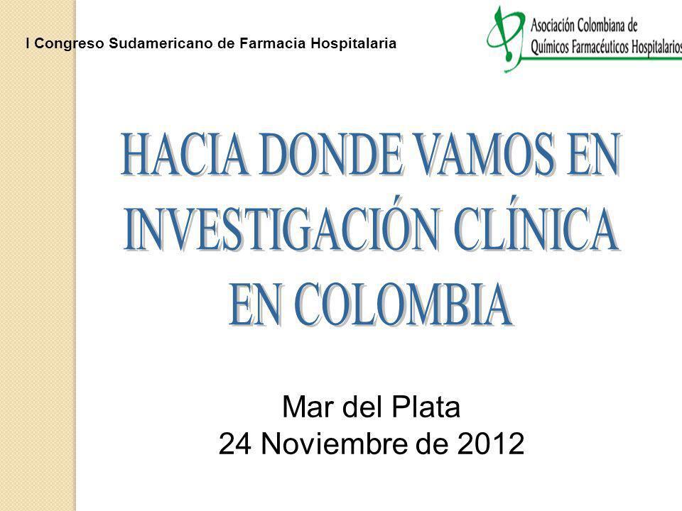 I Congreso Sudamericano de Farmacia Hospitalaria Mar del Plata 24 Noviembre de 2012