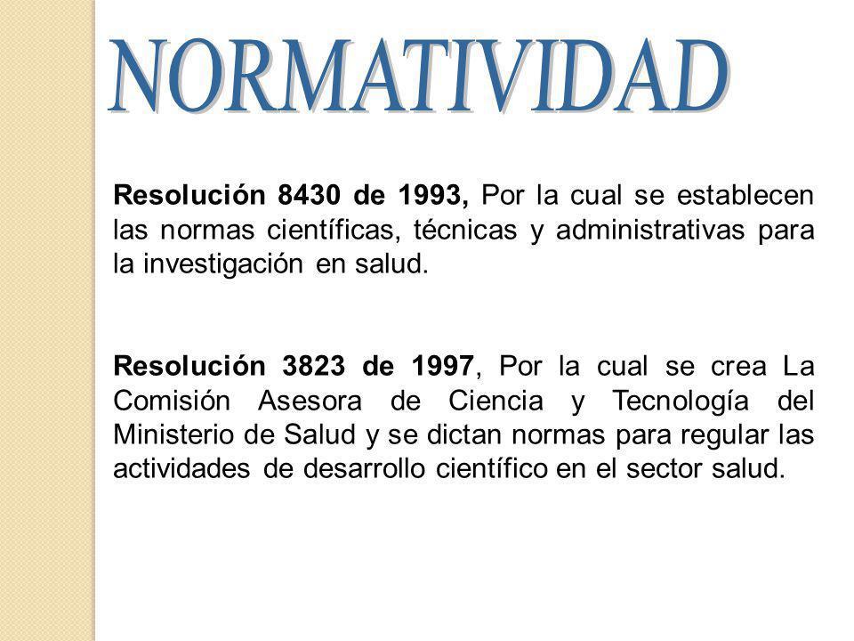 Resolución 8430 de 1993, Por la cual se establecen las normas científicas, técnicas y administrativas para la investigación en salud.
