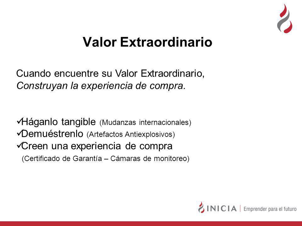 Valor Extraordinario Cuando encuentre su Valor Extraordinario, Construyan la experiencia de compra.