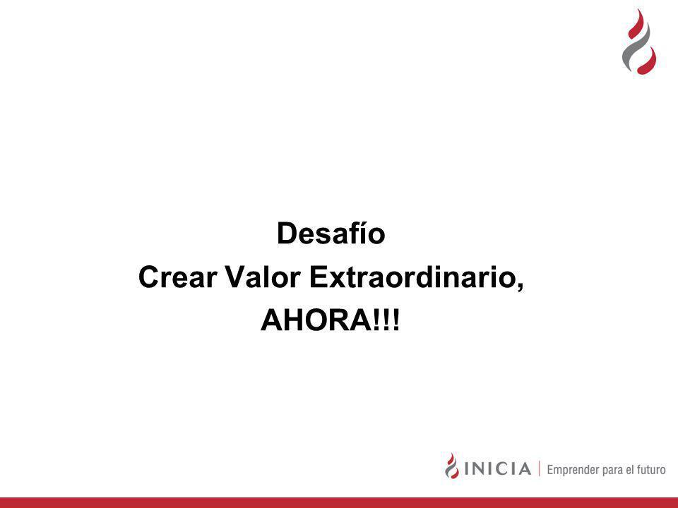 Desafío Crear Valor Extraordinario, AHORA!!!