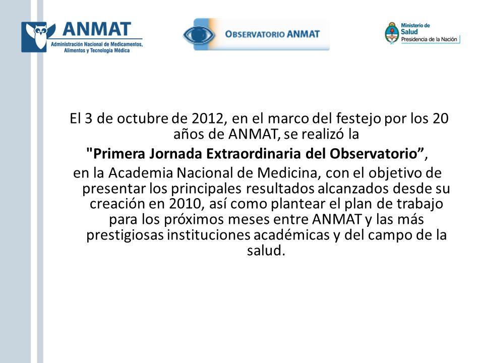 El 3 de octubre de 2012, en el marco del festejo por los 20 años de ANMAT, se realizó la