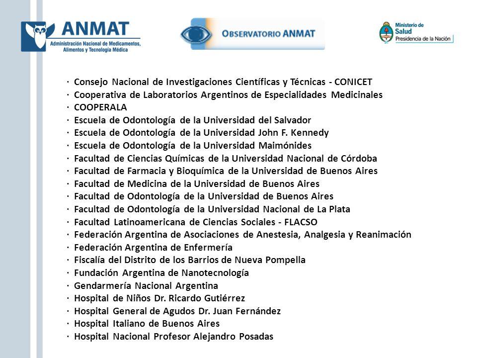 · Consejo Nacional de Investigaciones Científicas y Técnicas - CONICET · Cooperativa de Laboratorios Argentinos de Especialidades Medicinales · COOPER
