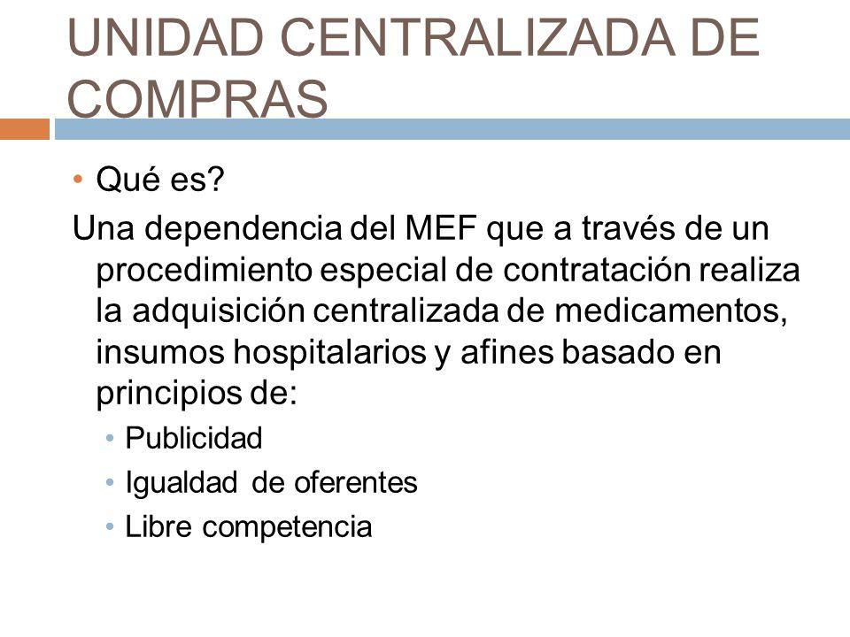 UNIDAD CENTRALIZADA DE COMPRAS Qué es.