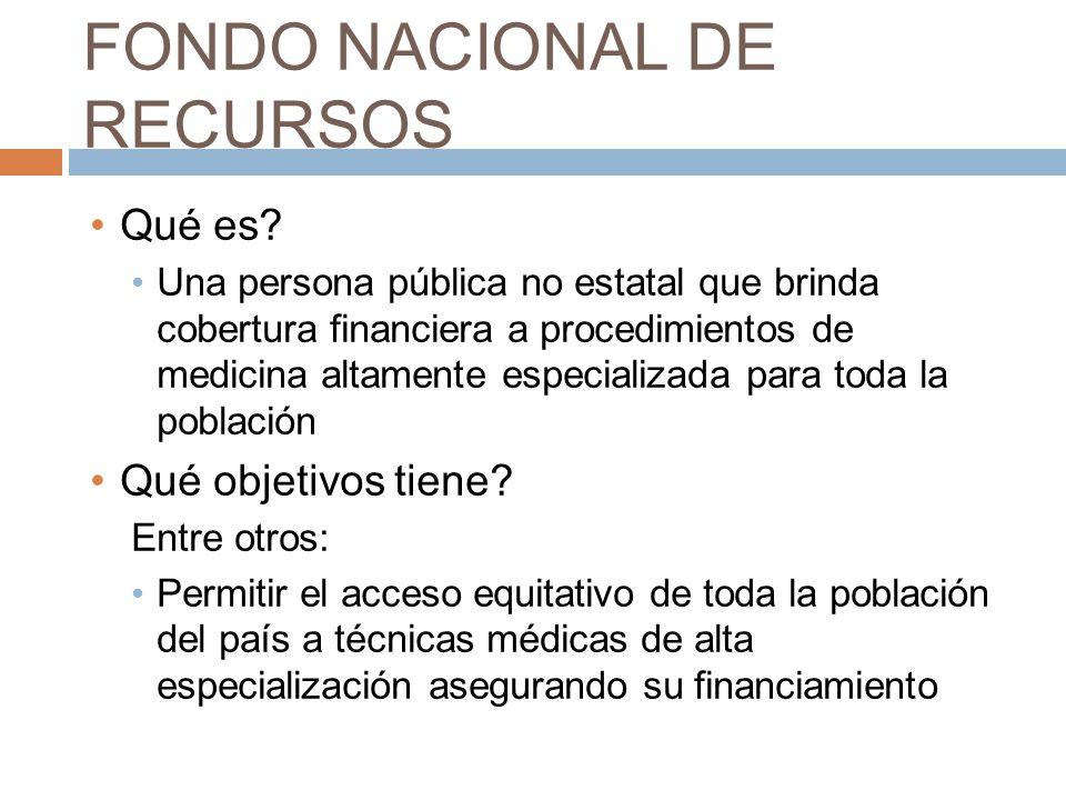FONDO NACIONAL DE RECURSOS Qué es.