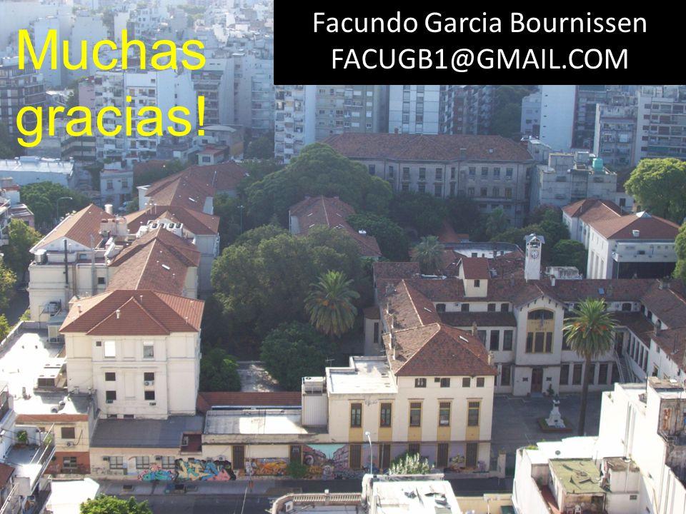 Muchas gracias! Facundo Garcia Bournissen FACUGB1@GMAIL.COM