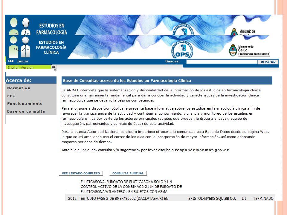ENSAYOS CLINICOS SEGUN GRUPO ANATOMICO/TERAPEUTICO -A ÑO 2010 305 trials (incluye BD/Bioequiv.)