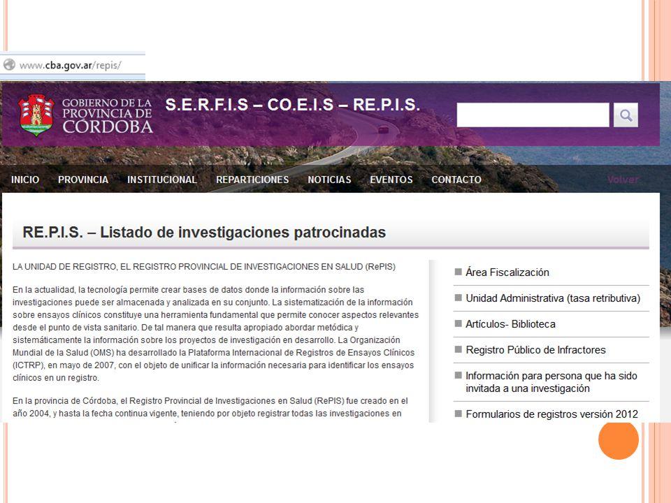 MARCO LEGISLATIVO NACIONAL DE REFERENCIA PARA LA INVESTIGACION CLINICA RECORDAR QUE HAY LEGISLACION INTERNACIONAL, CONVENCIONES, ACUERDOS QUE HAY LEYES Y REGLAMENTACIONES PROVINCIALES SOBRE INVESTIGACION CLINICA P.Bs.As., Cordoba, CABA, Sta.FE, Mendoza, Rio Negro, Neuquen, Corrientes QUE EL PODER DE POLICIA SANITARIA ES ATRIBUCION NO DELEGADA POR LAS PROVINCIAS EN EL GOBIERNO NACIONAL ANMAT = ww.anmat.gov.ar Bs.As.