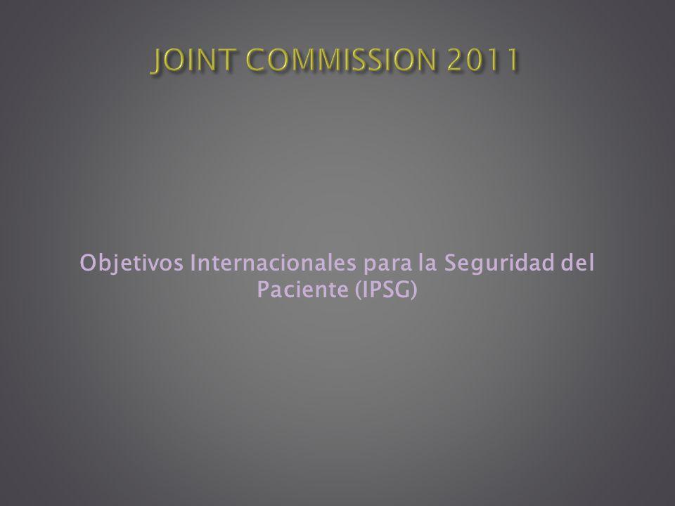 Objetivos Internacionales para la Seguridad del Paciente (IPSG)