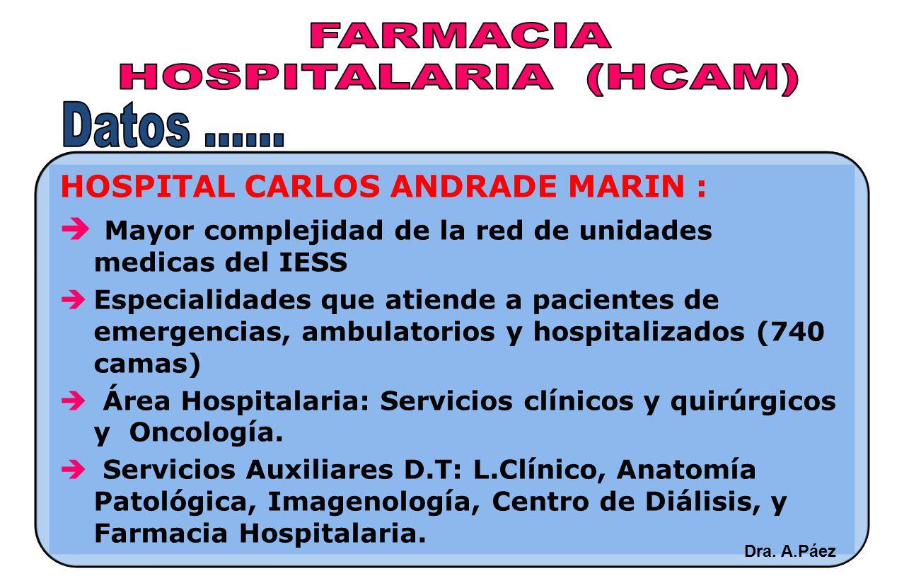 HOSPITAL CARLOS ANDRADE MARIN : Mayor complejidad de la red de unidades medicas del IESS Especialidades que atiende a pacientes de emergencias, ambula