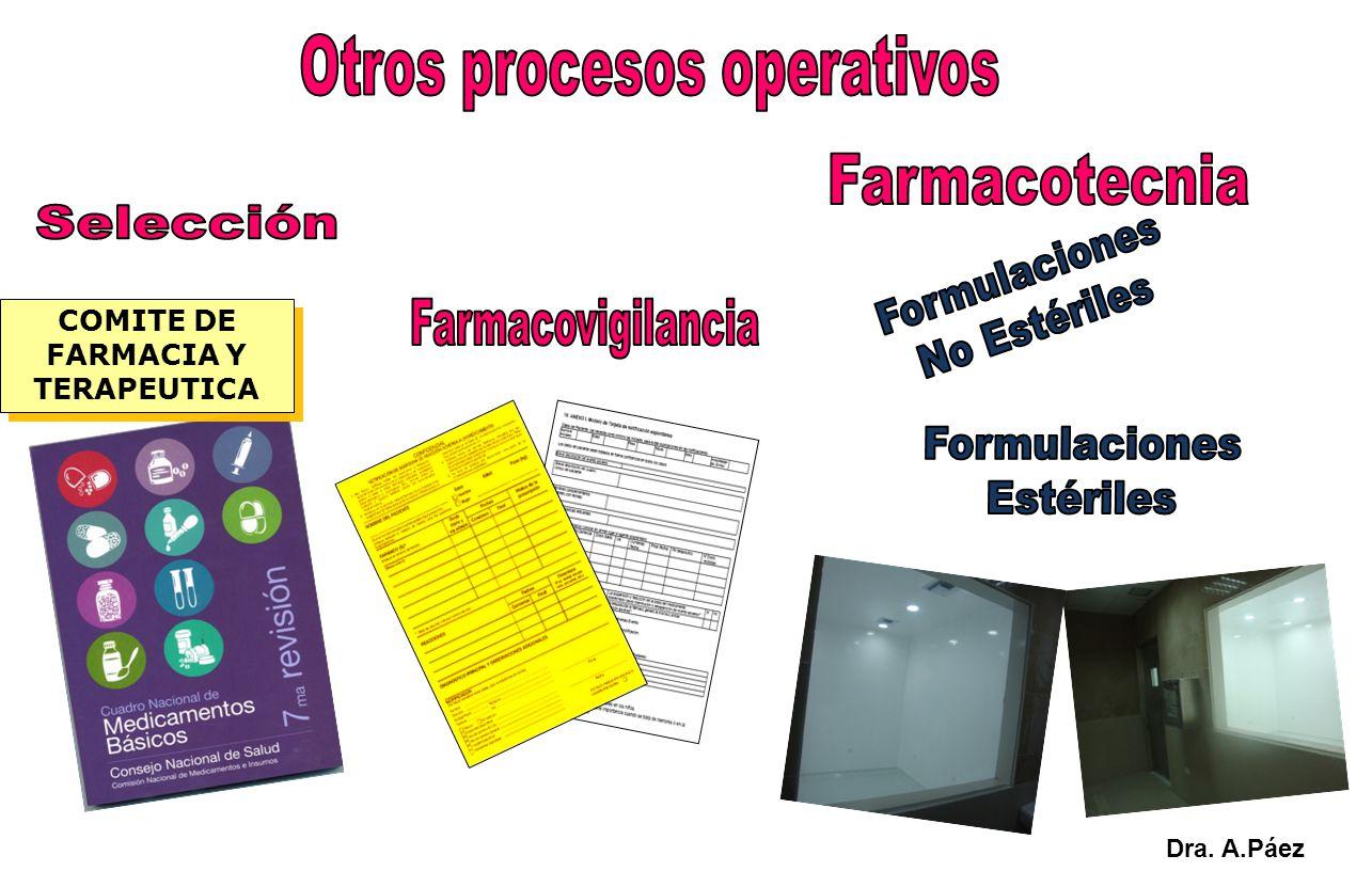 COMITE DE FARMACIA Y TERAPEUTICA Dra. A.Páez