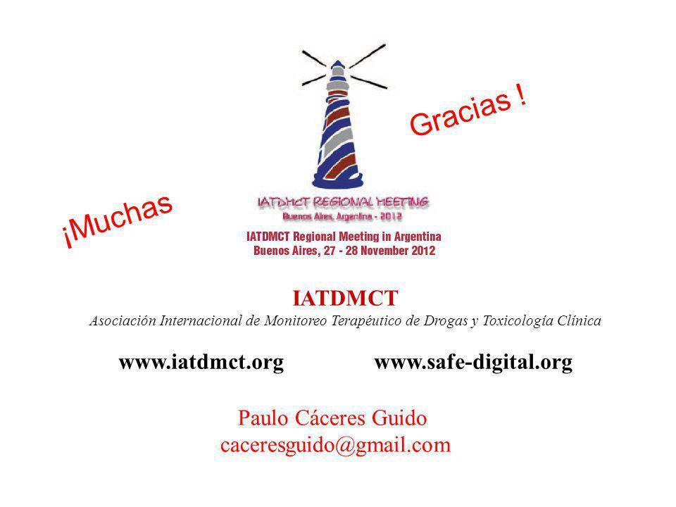 IATDMCT Asociación Internacional de Monitoreo Terapéutico de Drogas y Toxicología Clínica www.iatdmct.org www.safe-digital.org ¡Muchas Gracias .