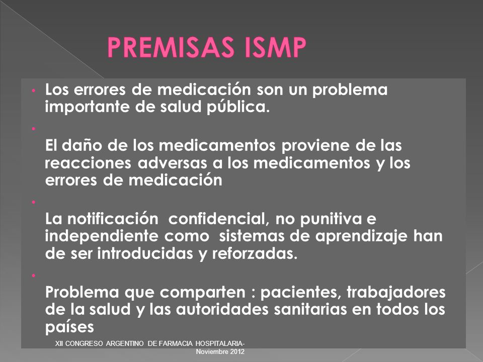 Los errores de medicación son un problema importante de salud pública. El daño de los medicamentos proviene de las reacciones adversas a los medicamen