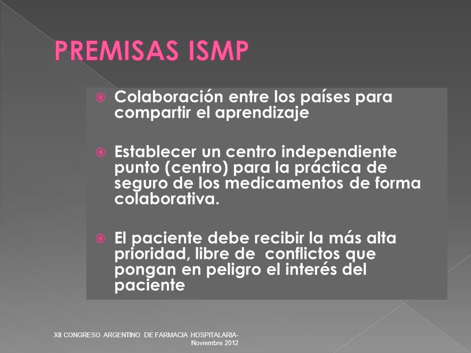 Colaboración entre los países para compartir el aprendizaje Establecer un centro independiente punto (centro) para la práctica de seguro de los medica