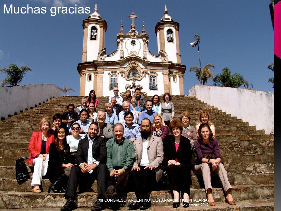Muchas gracias XII CONGRESO ARGENTINO DE FARMACIA HOSPITALARIA- Noviembre 2012