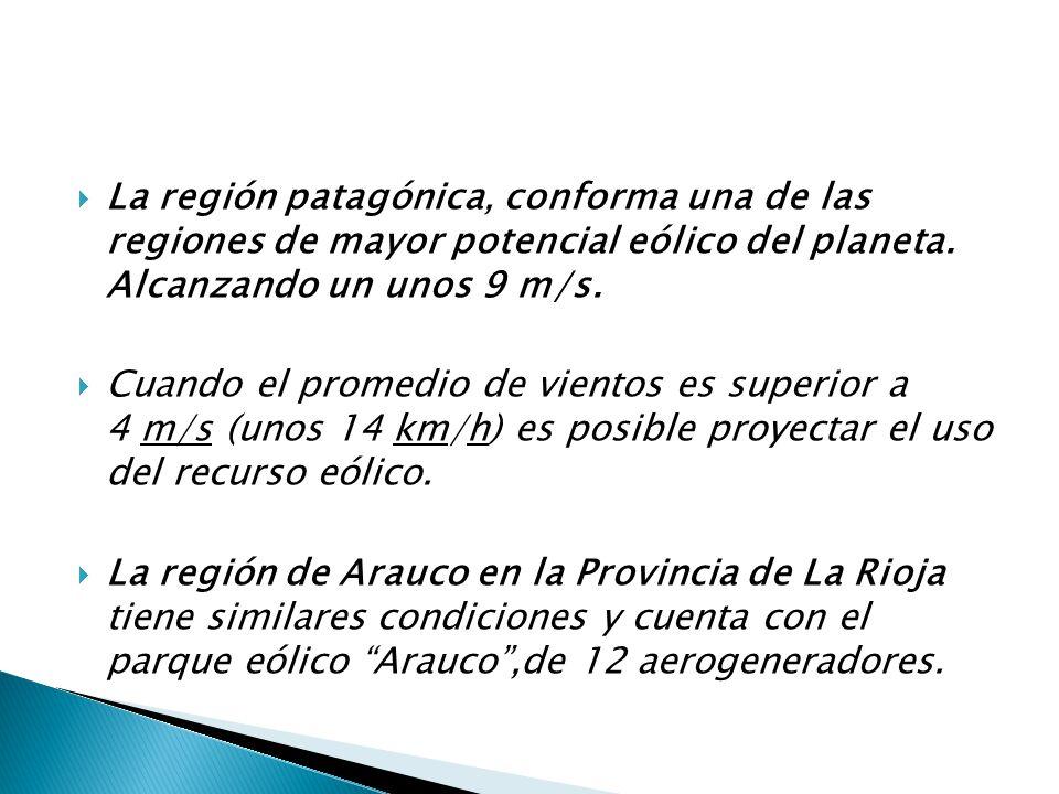 La región patagónica, conforma una de las regiones de mayor potencial eólico del planeta.