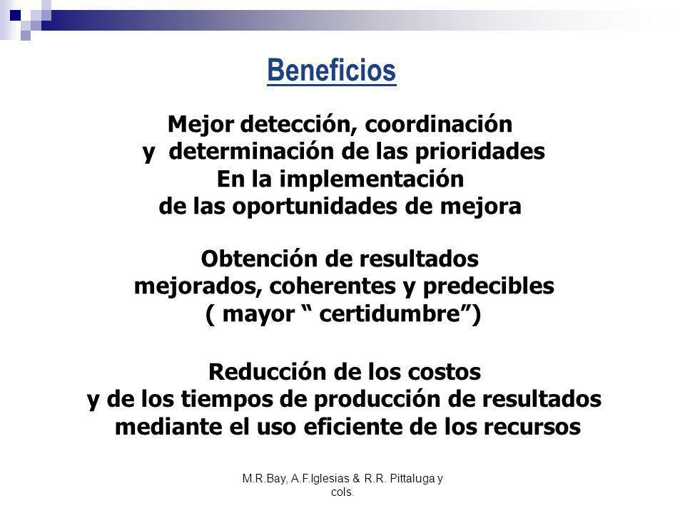 M.R.Bay, A.F.Iglesias & R.R. Pittaluga y cols. Beneficios Mejor detección, coordinación y determinación de las prioridades En la implementación de las