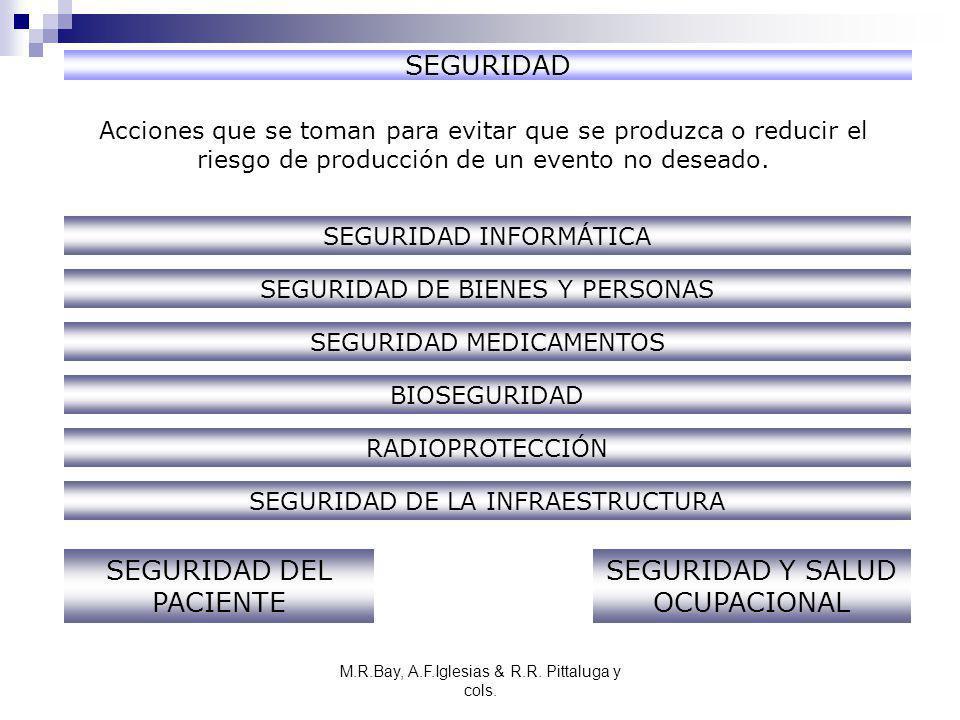 M.R.Bay, A.F.Iglesias & R.R. Pittaluga y cols. SEGURIDAD Acciones que se toman para evitar que se produzca o reducir el riesgo de producción de un eve